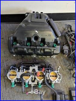 11-15 Kawasaki Ninja ZX10R ECU Wiring Harness Rectifier Throttle Bodies Air Box