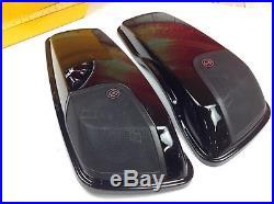 14-18 OEM Harley CVO Touring Saddlebag Boom Stage 2 Speakers Lids Wiring Harness