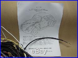 1968-1971 VW Volkswagen STD Bug Sedan T1 Wiring Works MAIN Harness Kit -USA MADE