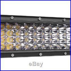 1pc 52inch 3000W 465000LM Curved Led Spot Flood Combo Light Bar + Wiring Harness