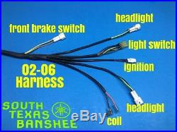 2002-2006 Yamaha Banshee Wiring Harness (NEW) NO TORS-NO PARK BRAKE 3GG-10 CDI