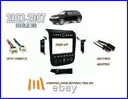 2003-2007 fits NISSAN MURANO DOUBLE DIN INSTALL KIT (BLACK FINISH), WIRE HARNESS