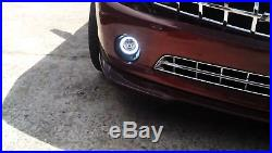 20W CREE LED Halo Ring DRL/Fog Lights with Bezels Wiring For 2010-13 Chevy Camaro