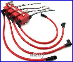 4 Hi Output Universal Coil Packs / Bracket kit / Connector Clips & 10MM Wires