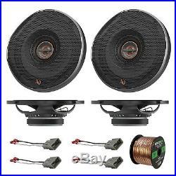 4x Infinity 180 Watt 6.5 Coaxial Car Speakers, 4x Harness for Honda, 50' Wire