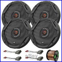 4x JBL GX602 6.5 4 Ohm 180 Watts Speakers, 4x Harness for Honda, 50' Wire