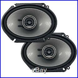 4x Kenwood 360 Watt 6 x 8 2-Way Speakers, 4X Speaker Harness Adapter, 50Ft Wire