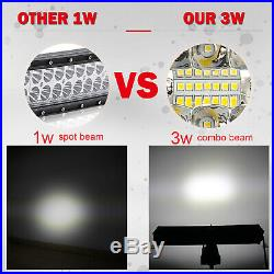 52Inch 10D Tri-Row 3000W Straight LED Work Light Bar Driving + Wiring Harness