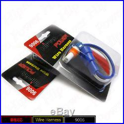 9006 Hipro Power Headlight Bulb Harness Wire Connectors
