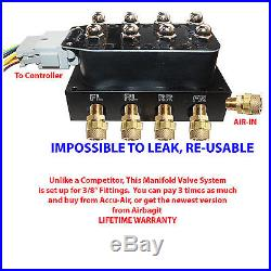 Air Ride Suspension Manifold Valve 1/2 Fast Air Bag System Control NEW IMPROVED