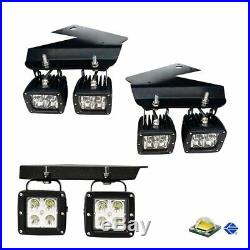 Amber 80W CREE LED Pods with Lower Bumper Brackets, Wiring For 10-14 Ford Raptor