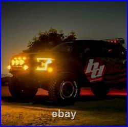 Baja Designs LP6 Pro Pair LED White Driving/Combo Light + Wiring Harness Kit