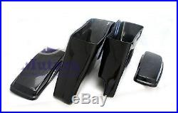 CVO 2 in 1 Cut Out Stretched Extended Rear Fender w saddlebags set 14-2018