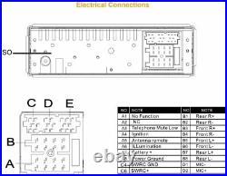 Continental RADIO USB MP3 WMA BLUETOOTH 12V TR7412UB-OR WITH WIRING HARNESS BOAT