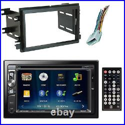 Dual 2-DIN Touchscreen Bluetooth Receiver, Scosche Dash Kit, Wire Harness