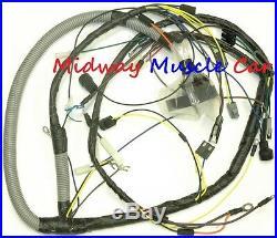 Engine wiring harness 1974 74 Pontiac GTO Ventura console gauges & shaker hood