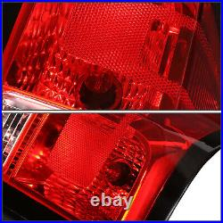 FOR 14-19 SILVERADO PAIR RED LENS REAR TAIL LIGHT BRAKE LAMP With WIRING HARNESS