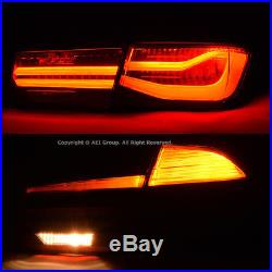 For 12-18 BMW 3 Series F30 LCI Black Line Rear Tail Light Lamps + Coding Wires