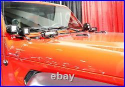 Hood LED Light Bar Kit withHood Hinge Bracket, Wiring For 07+ Jeep Wrangler JK/JL