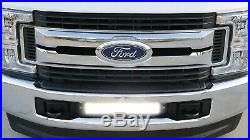 Lower Grille 20 LED Light Bar Kit with Brackets, Relay For 2017-up Ford SuperDuty