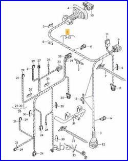 New Genuine Audi A4 B6 2001-2005 Wiring Loom Harness Driver Door 8e1971029c