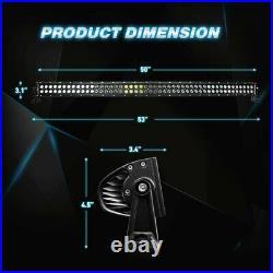 Nilight 50 inch 288W Black Curved LED Light Work Bar + Wiring Harness + Switch