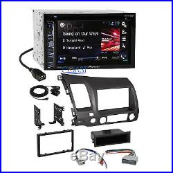 Pioneer 2016 Car Radio Stereo Dash Kit Wire Harness for 2006-2011 Honda Civic