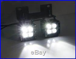 Raptor Style 80W Dual CREE LED Pods withFoglamp Bracket/Wiring For 04-06 Ford F150