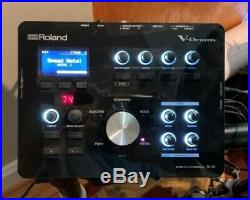 Roland TD-25 Electronic V-Drum Module, wiring harness, and mount